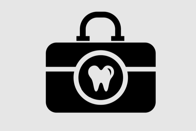 Traveling Tooth suitcase graphic