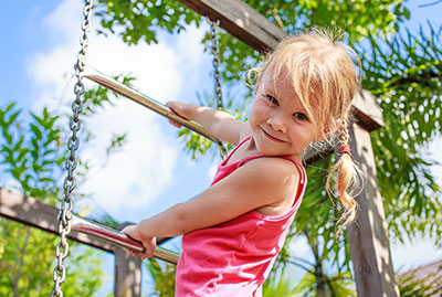 Child Playing Outside - Pediatric Dentist in Southington, Plainville, Chesire and Bristol, CT