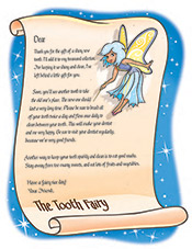 Tooth Fairy Letter - Pediatric Dentist in Southington, Plainville, Chesire and Bristol, CT
