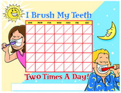 Color Brushing Chart - Pediatric Dentist in Southington, Plainville, Chesire and Bristol, CT