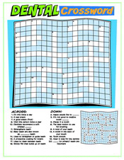 Dental Crossword activity sheet - Pediatric Dentist in Southington, Plainville, Chesire and Bristol, CT