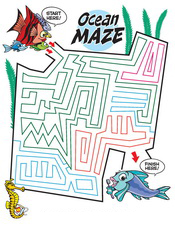 Ocean Maze activity sheet - Pediatric Dentist in Southington, Plainville, Chesire and Bristol, CT